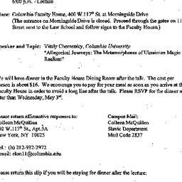 Announcements, 2000-04-22. ...