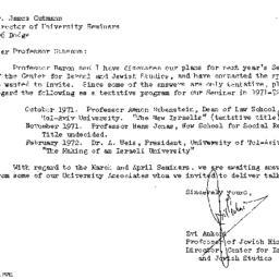 Correspondence, 1972-05-09....