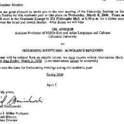 Announcements, 2000-02-15. ...