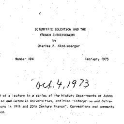 Speaker's notes, 1973-10-04...