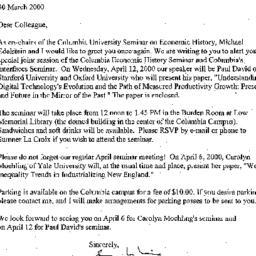 Announcements, 2000-04-12. ...