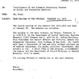 Announcements, 1975-01-27. ...