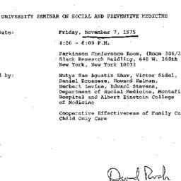 Announcements, 1975-11-07. ...