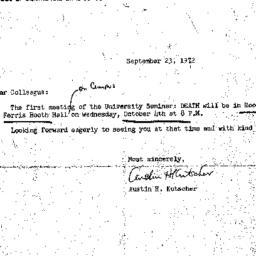 Announcements, 1972-09-23. ...
