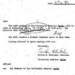 Announcements, 1972-12-11. ...