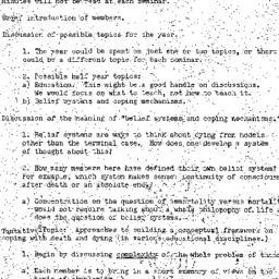 Minutes, 1973-10-03. Death,...