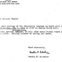 Announcements, 1975-05-07. ...