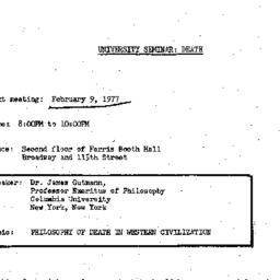 Announcements, 1977-02-09. ...