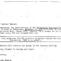 Announcements, 1979-12-05. ...