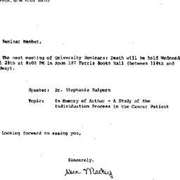 Announcements, 1982-04-28. ...