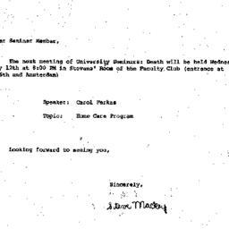 Announcements, 1982-05-12. ...