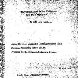 Speaker's paper, 1995-04-12...