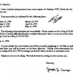 Correspondence, 1999-07-15....