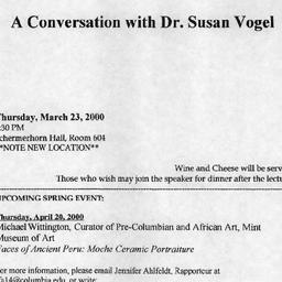 Announcements, 2000-03-23. ...