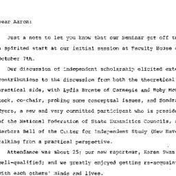 Correspondence, 1986-10-09....