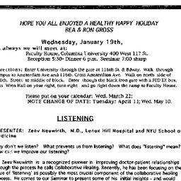 Announcements, 2000-01-19. ...