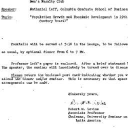 Announcements, 1971-11-17. ...