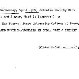 Announcements, 1972-04-19. ...