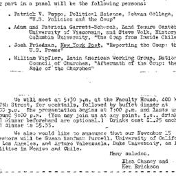 Announcements, 1973-10-18. ...