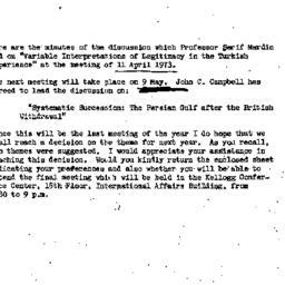 Announcements, 1973-04-23. ...