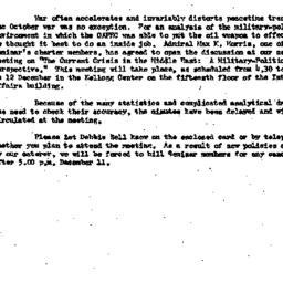 Announcements, 1973-12-12. ...