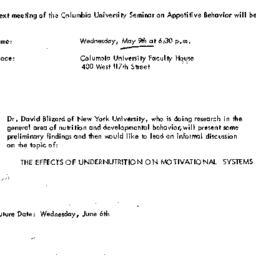 Announcements, 1973-05-09. ...
