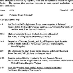 Schedules, Appetitive Behav...