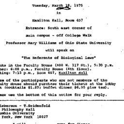 Announcements, 1975-03-05. ...