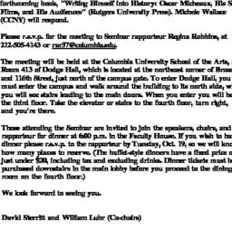 Announcements, 1999-10-11. ...