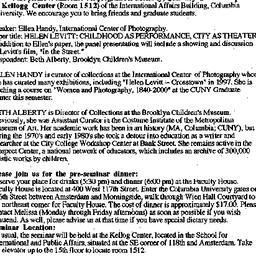 Announcements, 2000-01-10. ...