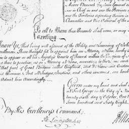 Document, 1768 October 26