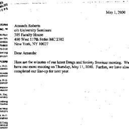 Announcements, 2000-05-01. ...