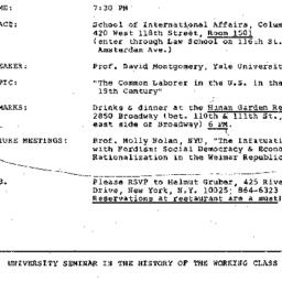Announcements, 1981-03-19. ...