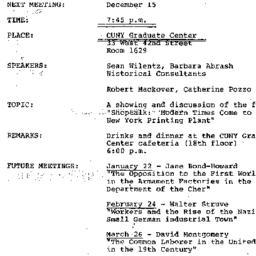 Announcements, 1980-12-15. ...