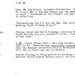 Announcements, 1984-05-03. ...