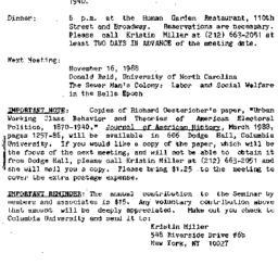 Announcements, 1988-10-13. ...