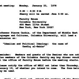 Announcements, 1978-01-23. ...