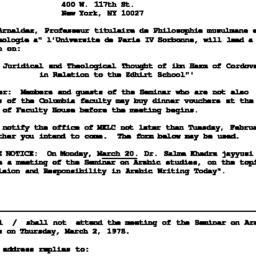 Announcements, 1978-03-02. ...