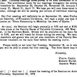 Announcements, 1979-09-07. ...