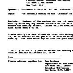 Announcements, 1979-10-25. ...