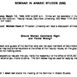 Announcements, 1998-03-12. ...