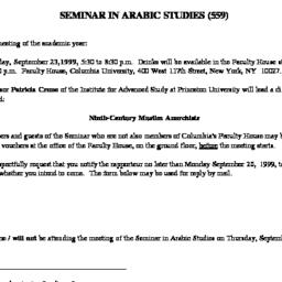 Announcements, 1999-09-23. ...