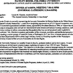 Announcements, 1998-02-26. ...
