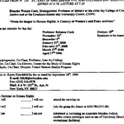 Announcements, 1999-09-28. ...