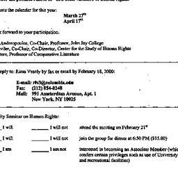 Announcements, 2000-02-21. ...