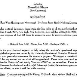 Announcements, 1998-02-13. ...