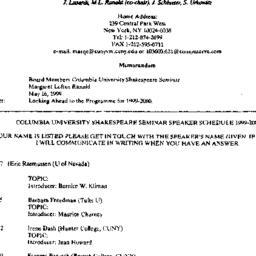 Announcements, 2000-05-16. ...