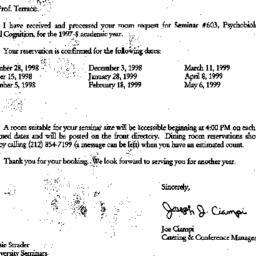 Announcements, 1999-07-15. ...
