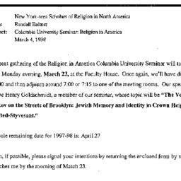 Announcements, 1998-03-23. ...