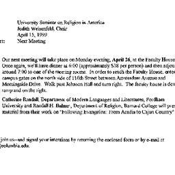 Announcements, 1999-04-26. ...